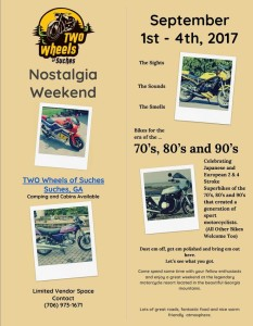 Vintage & 2 Stroke Bike Weekend @ Two Wheels of Suches